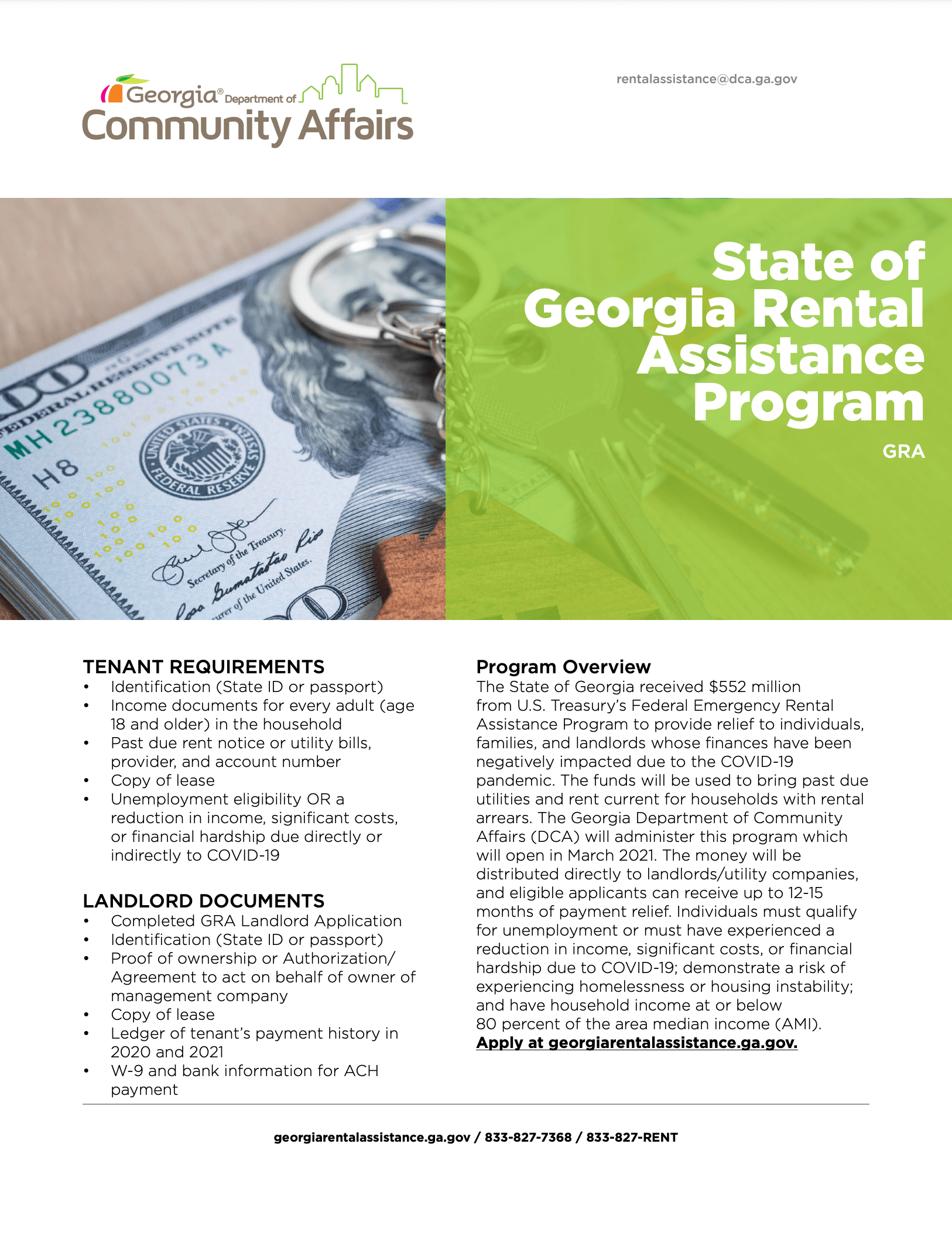 georgia rental assistance program flyer